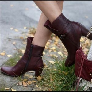 ECCO Sculptured 75 Ankle Boot - Burgundy